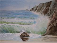 Rockaway Beach Painting by Dora Gourley