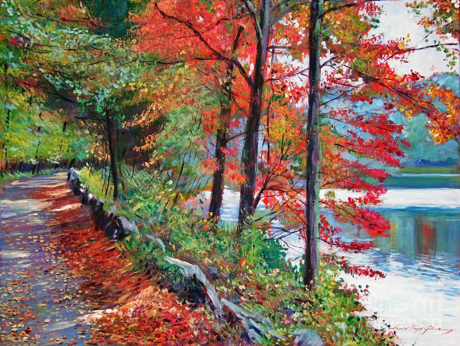 Autumn Leaves Painting - Rockefeller Park by David Lloyd Glover