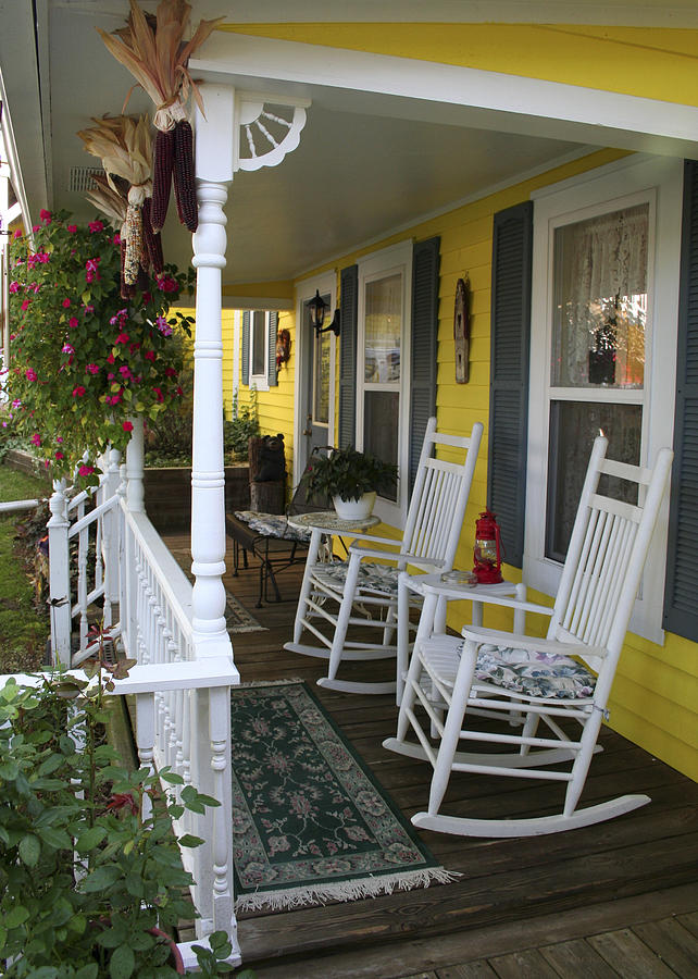 Rocking Chair Photograph - Rockers on the Porch by Margie Wildblood