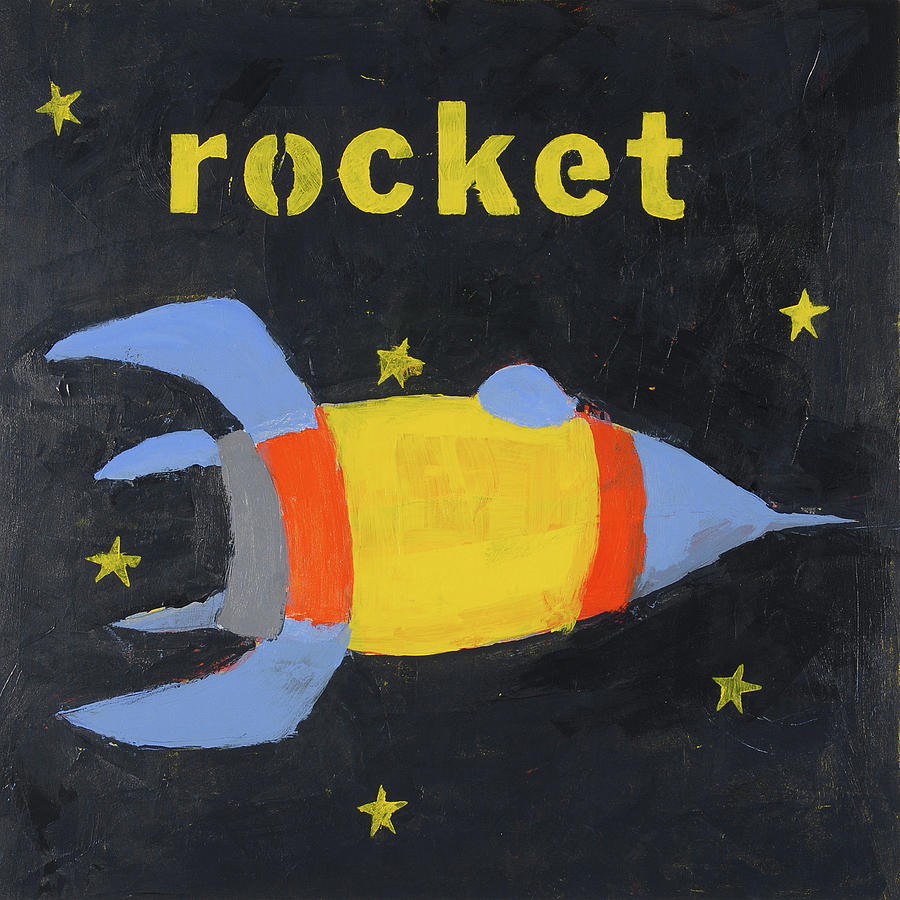 Rocket Painting Painting - Rocket by Laurie Breen