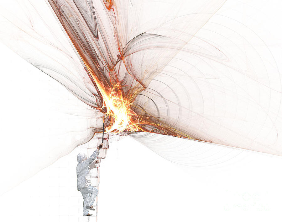 Rocket Photograph - Rocket Propulsion Ignition by Jan Piller