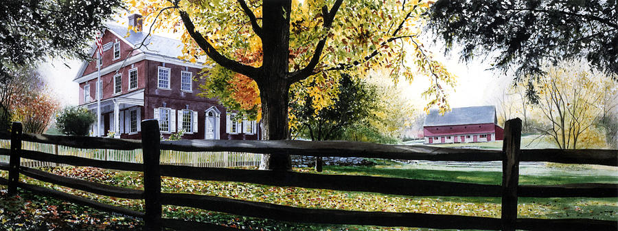 Lancaster County Pa Painting - Rockford In Autumn by Denny Bond