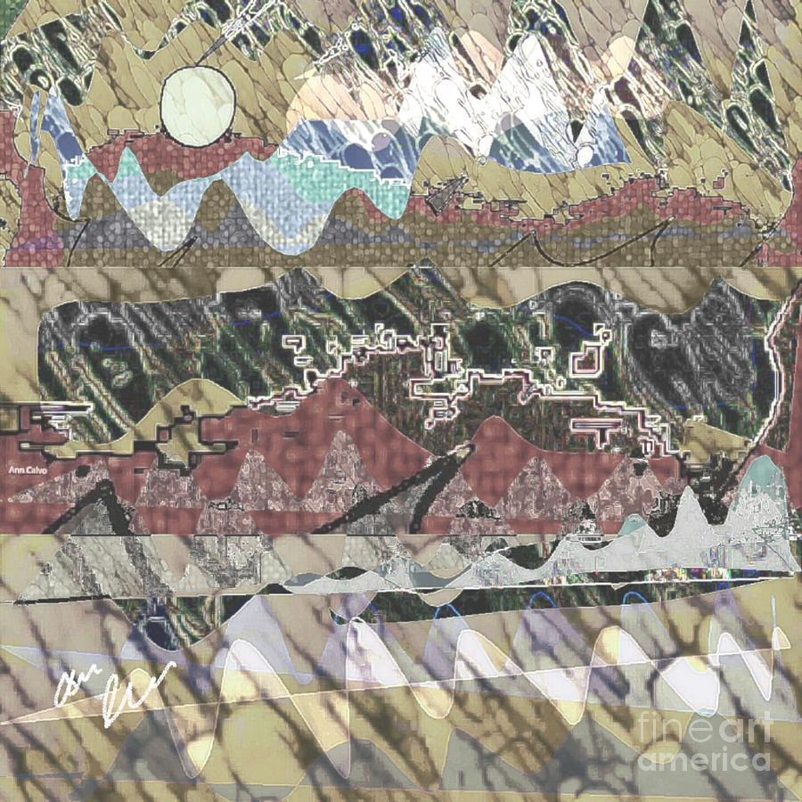Sun Mixed Media - Rockies by Ann Calvo