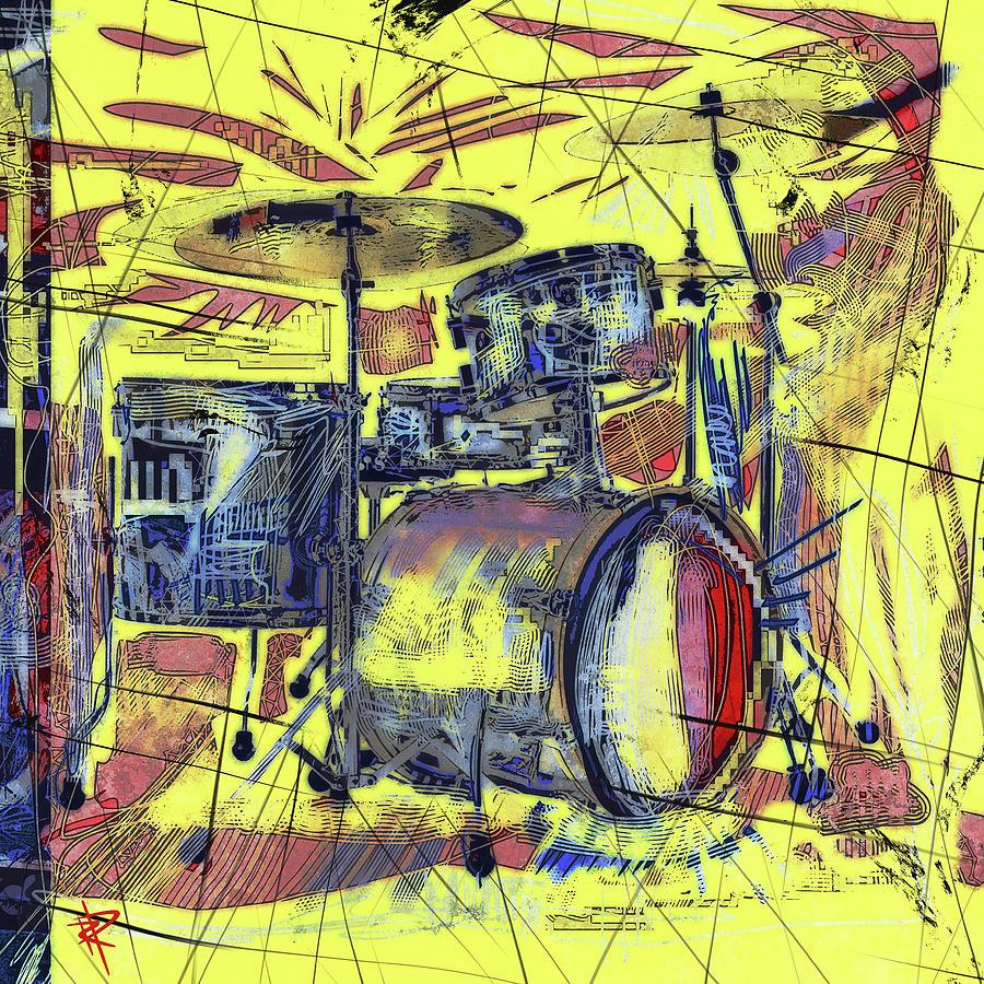 Rockin Drums Mixed Media