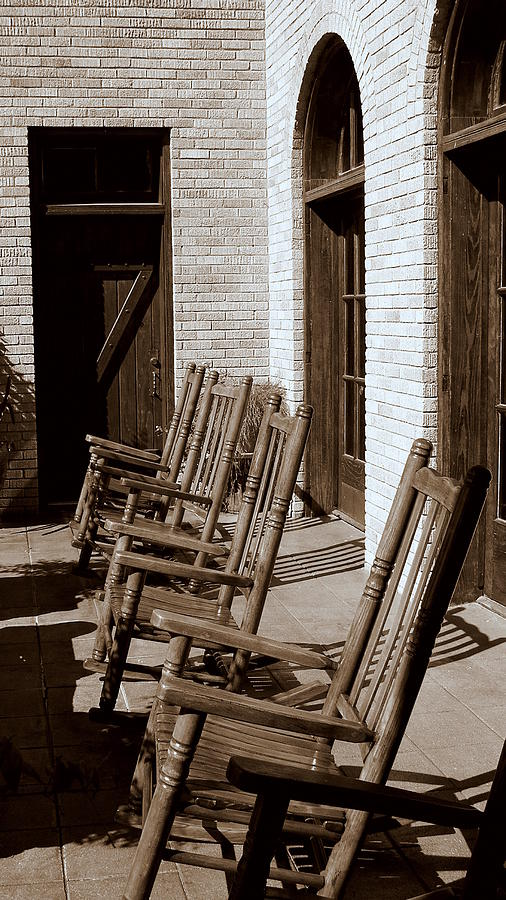 Chairs Photograph - Rocking To Relax by Karen Musick