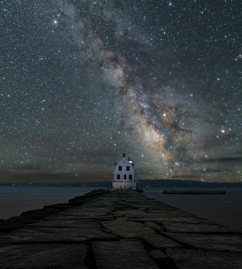 Rockland Breakwall Lighthouse by Hal Mitzenmacher