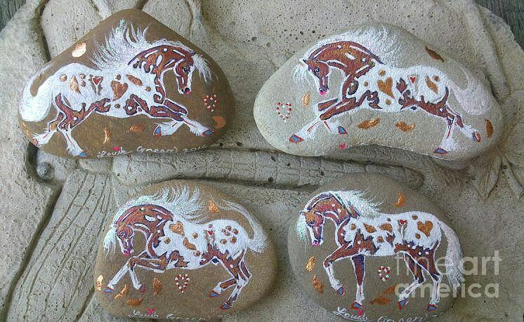 Appaloosa Mixed Media - Rocknponies - Autumn Ponies by Louise Green