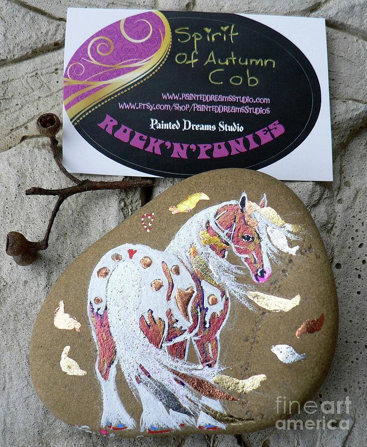 Appaloosa Mixed Media - Rocknponies - Spirit Of Autumn Cob by Louise Green