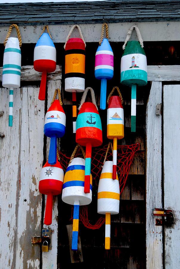 Colors Photograph - Rockport Bouys by Craig Incardone