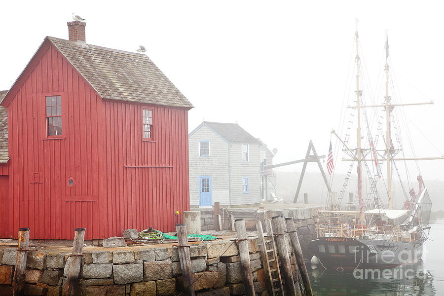 Boat Photograph - Rockport Fog by Susan Cole Kelly