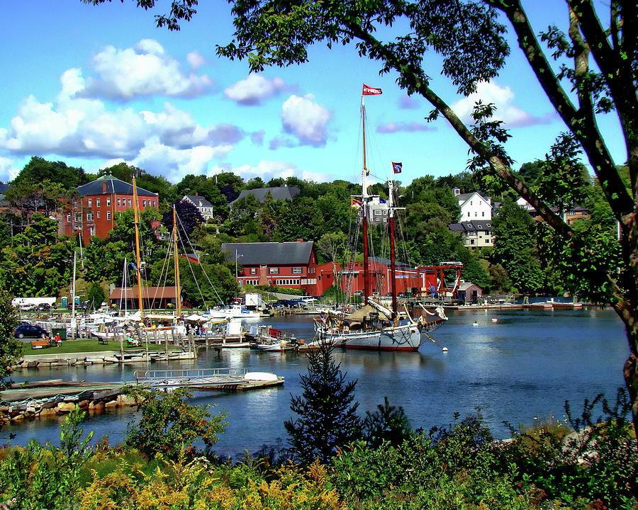 Maine Photograph - Rockport Harbor by Anthony Dezenzio