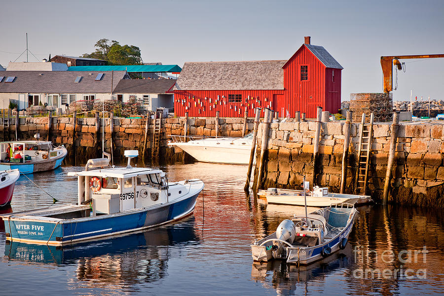 Boat Photograph - Rockport Motif by Susan Cole Kelly