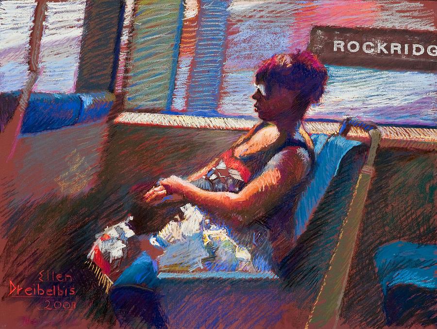 Woman Painting - Rockridge by Ellen Dreibelbis