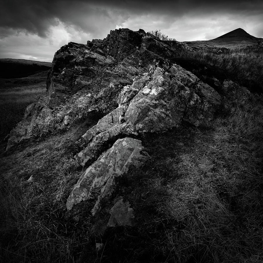 Mountain Photograph - Rocks And Ben More by Dave Bowman