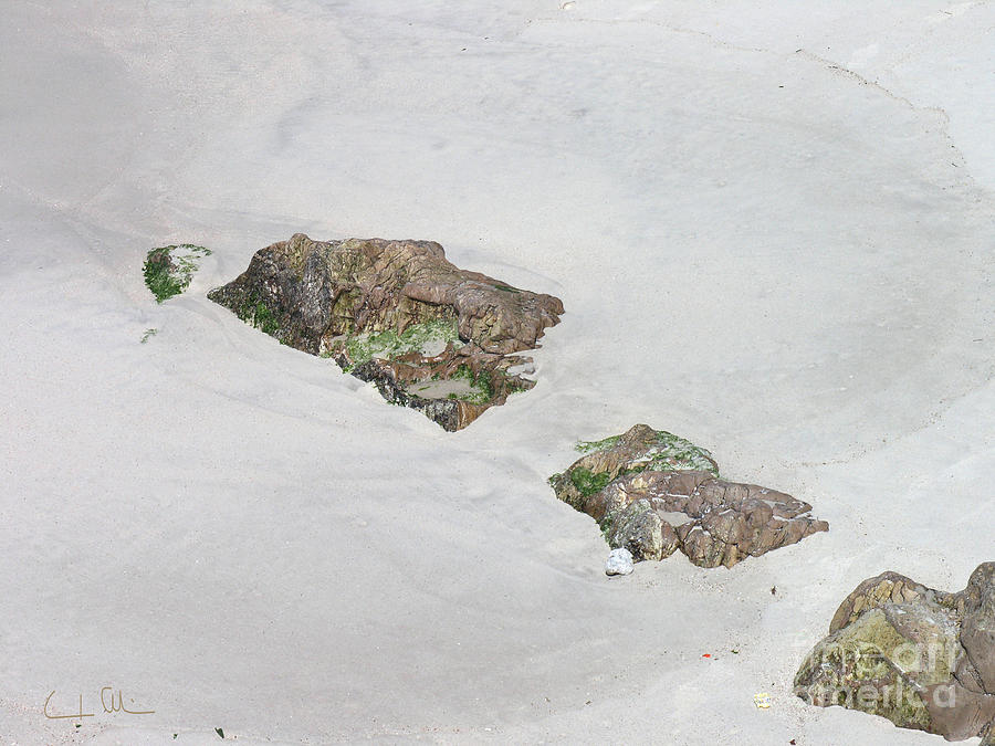 Rock Photograph - Rocks And Sand 02 by Carlos Alvim