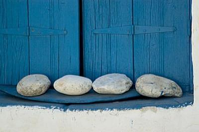 Rocks Photograph - Rocks And Shutters by Catherine Kelly