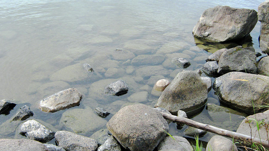 Rocks Photograph - Rocks And Water by Emma Frost