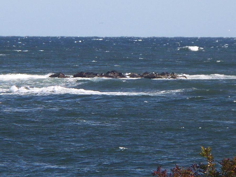 Seascape Photograph - rocks in the water III by Rosanne Bartlett