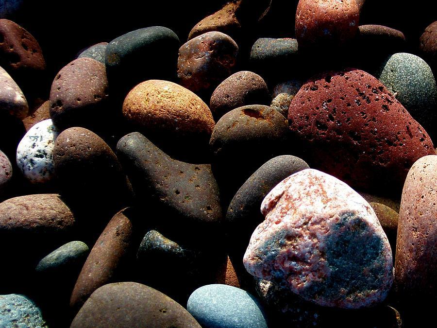 Rocks Photograph - Rocks Of Lake Superior by Bridget Johnson