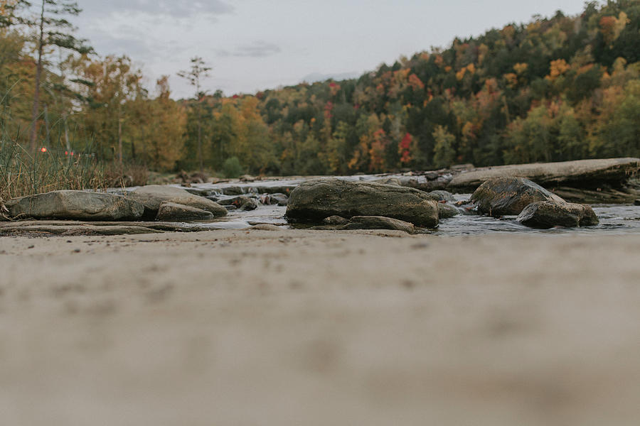 Rocks on Cumberland River by Amber Flowers
