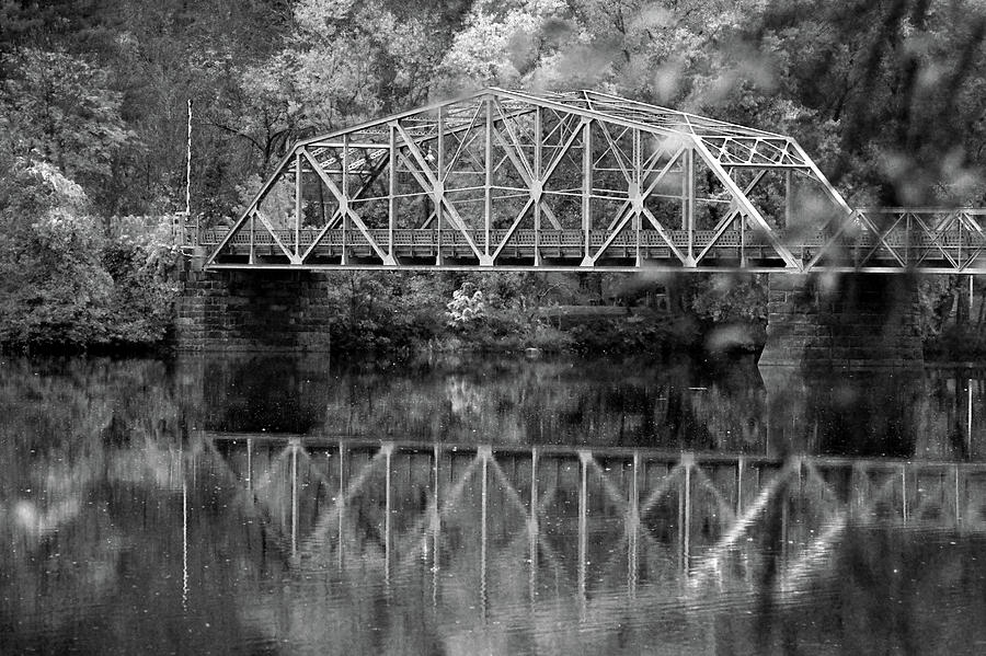 Rocks Photograph - Rocks Village Bridge In Black And White by Nancy Landry
