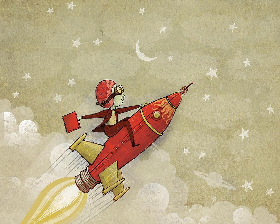 Rocket Digital Art - Rockship by Dennis Wunsch