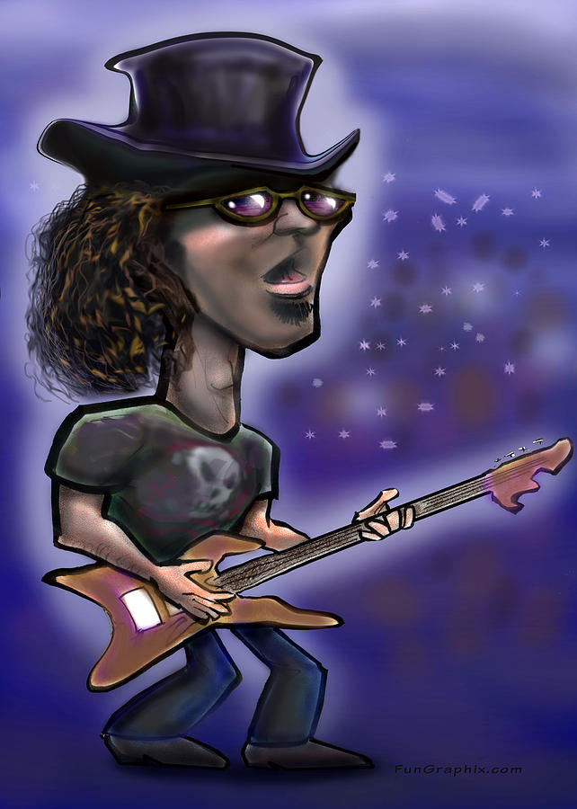 Rock Painting - Rockstar by Kevin Middleton