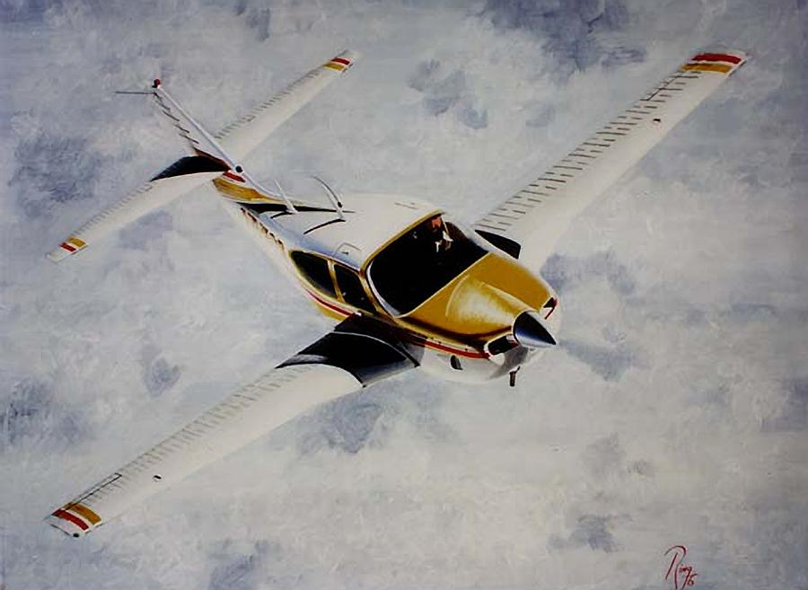 Rockwell Painting - Rockwell Commander 114-T by Peter Ring Sr