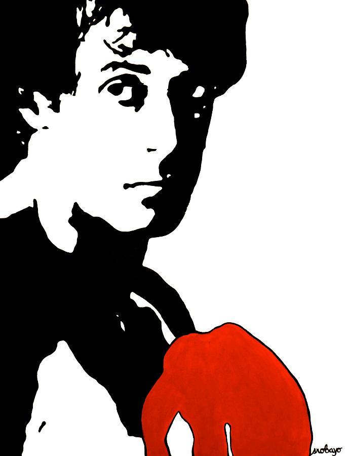 Rocky Balboa Painting Painting By Stephanie Robayo