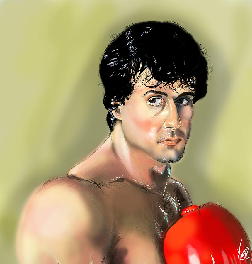 Rocky Balboa Drawing - Rocky Balboa by Vinny John Usuriello