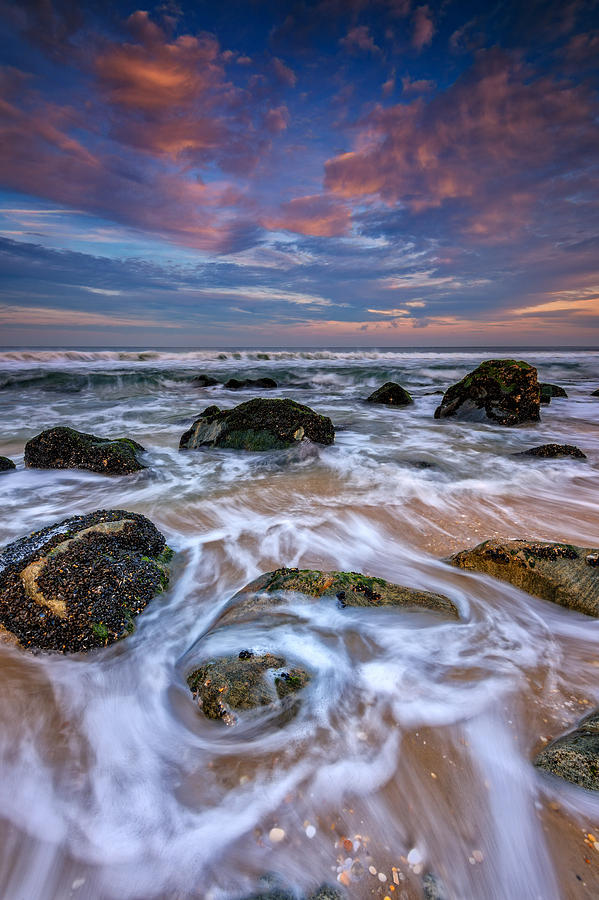 Rocks Photograph - Rocky Beach At Sandy Hook by Rick Berk