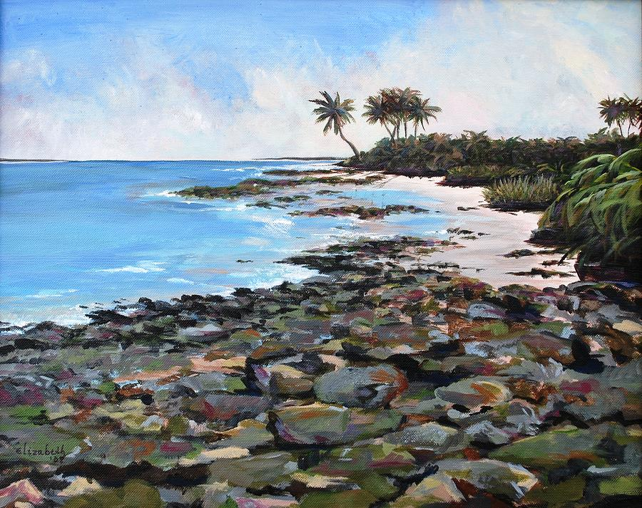 Rocky Painting - Rocky Beach by Beth Maddox