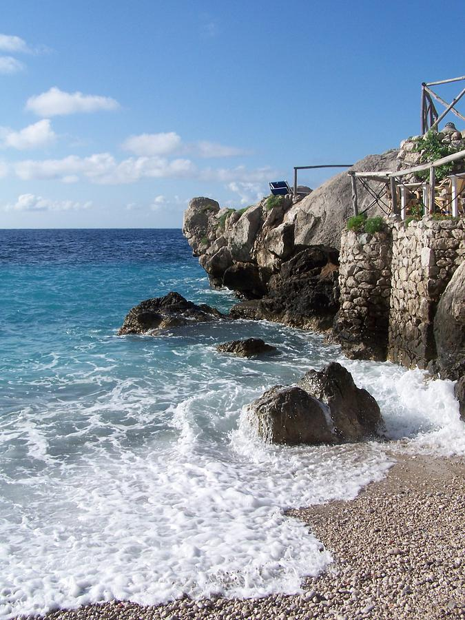 Capri Photograph - Rocky Beach On Capri by Adam Schwartz