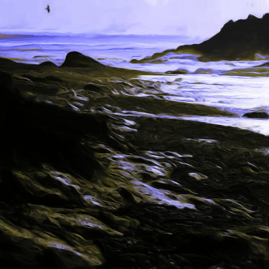 Beaches Painting - Rocky Beach by Shelley Bain