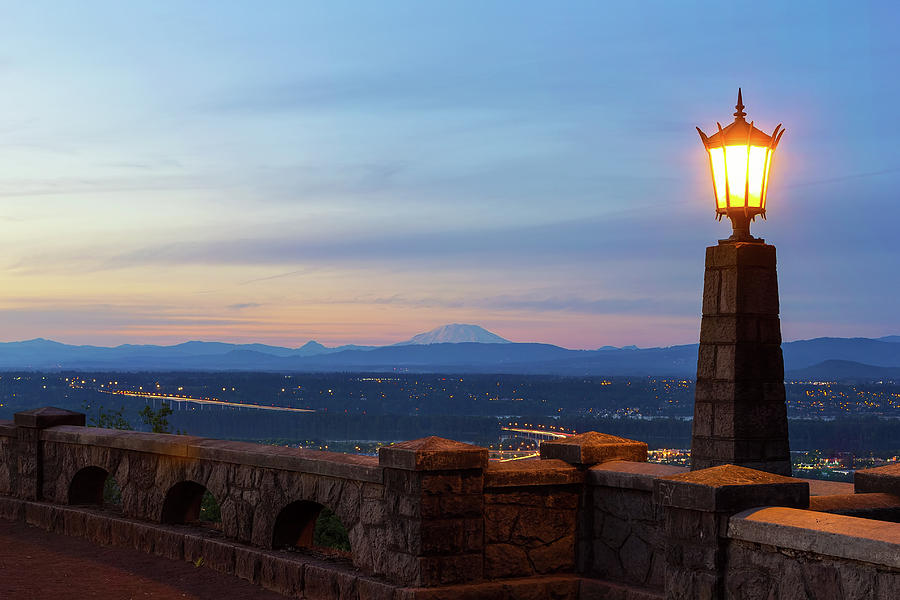 Rocky Butte Photograph - Rocky Butte Viewpoint at Sunset by David Gn