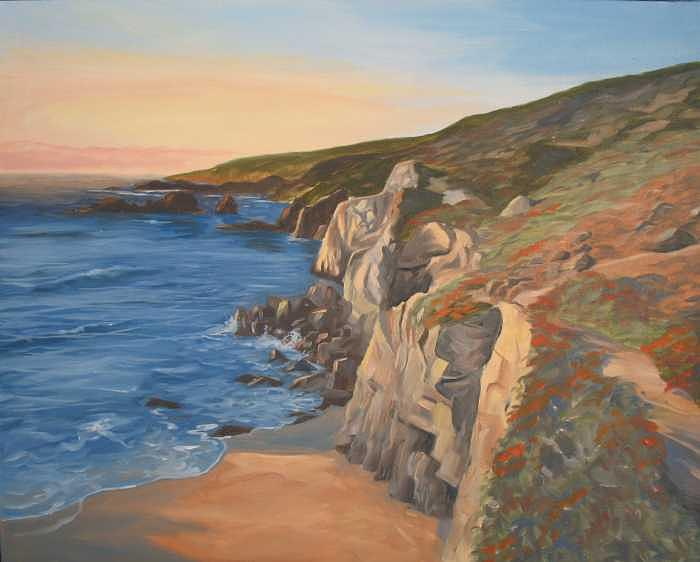 Rocky Cliff Painting by Jay Johnson