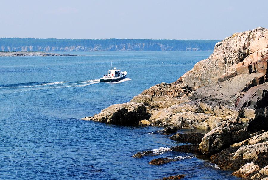 Boat Photograph - Rocky Coast Downeast by Steven Scott