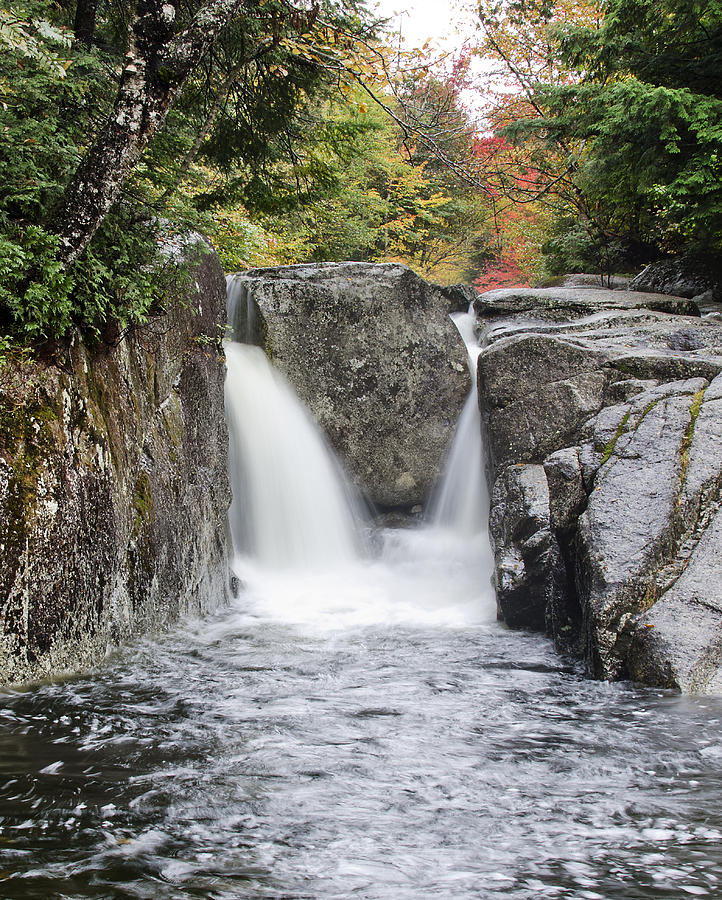 Rocky Photograph - Rocky Falls In The Adirondack Mountains - New York by Brendan Reals