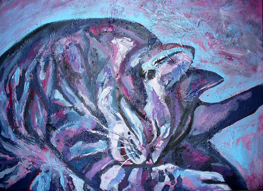 Wash Painting - Rocky In Blue by Sarah Crumpler