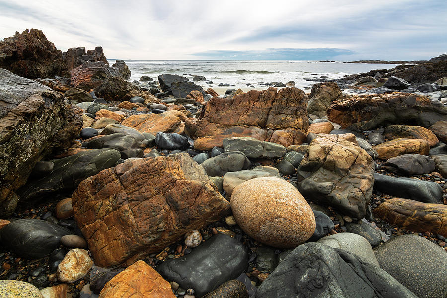 Rocky Maine Coast by Natalie Rotman Cote