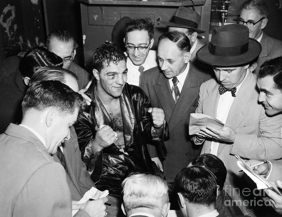 1951 Photograph - Rocky Marciano (1924-1969) by Granger