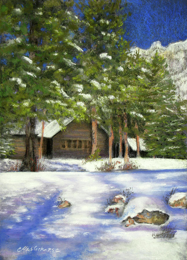 Nature Pastel - Rocky Mountain Blues by Carole Haslock