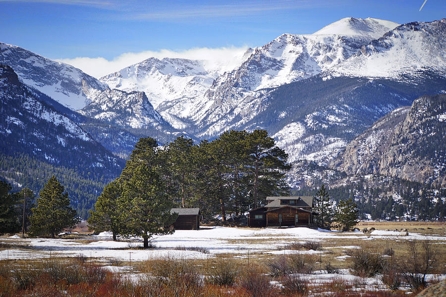 Colorado Photograph   Rocky Mountain Cabin By Paki OMeara