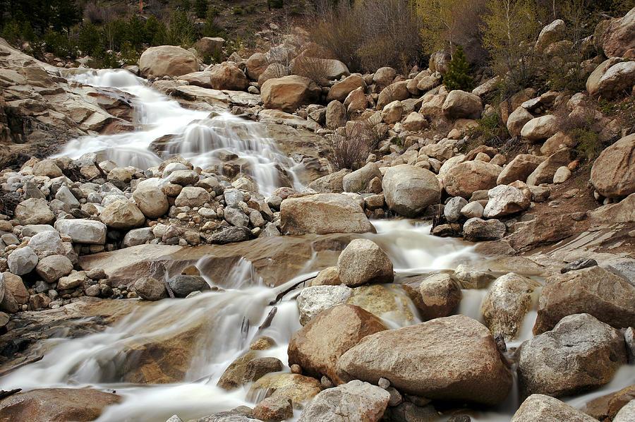 Cascade Photograph - Rocky Mountain Cascade by Brian Kamprath