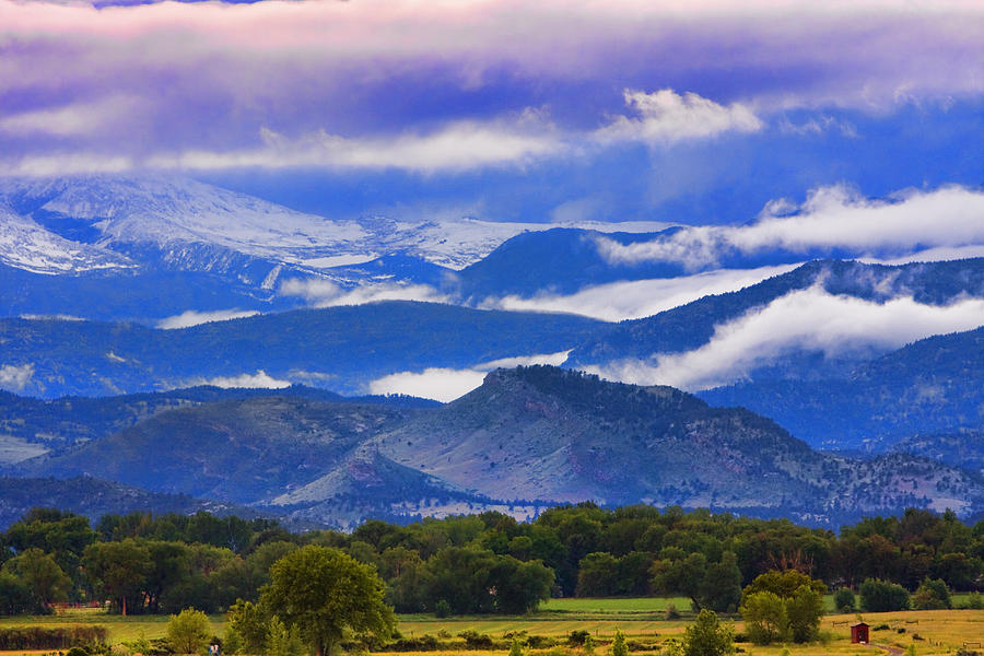 Rocky Mountain Cloud Layers Photograph by James BO  Insogna