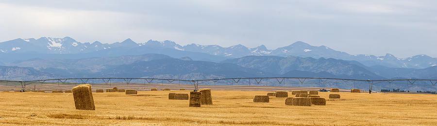 Rocky Mountain Front Range Agriculture Panorama Photograph