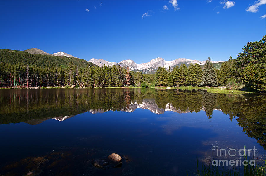 Lake Photograph - Rocky Mountain Lake In A Colorado National Park by ELITE IMAGE photography By Chad McDermott