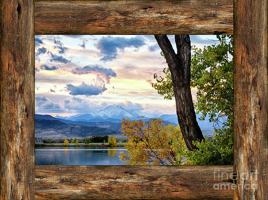 Windows Photograph   Rocky Mountain Longs Peak Rustic Cabin Window View By  James BO Insogna