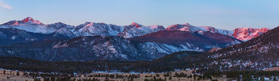 Rocky Mountain National Park First Light Panorama Photograph