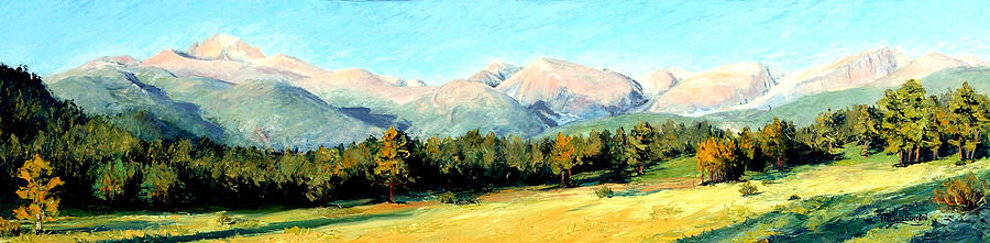 Rocky Mountains Painting - Rocky Mountain Panoramic by Mary Giacomini